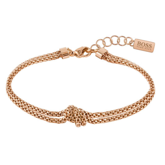 BOSS Ladies Rosette Carnation Gold Bracelet
