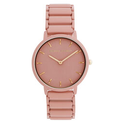 Rebecca Minkoff Ladies Major Stainless Steel & Matte Peach Watch