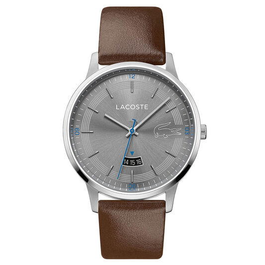 Lacoste Men's Madrid Brown Leather Watch