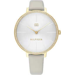 Tommy Hilfiger Ladies Grey Leather Watch