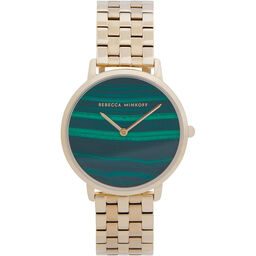 Rebecca Minkoff Ladies Major Gold Plated Watch