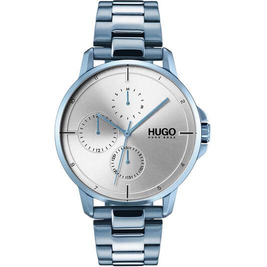 HUGO Men's #FOCUS Blue Plated Watch