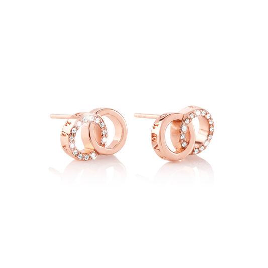 Bejewelled Interlink Earrings Rose Gold