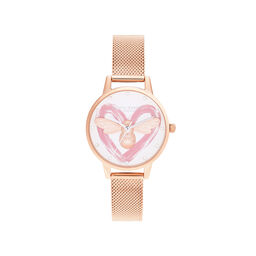 You Have My Heart  Lucky Bee, Silver & Rose Gold Mesh