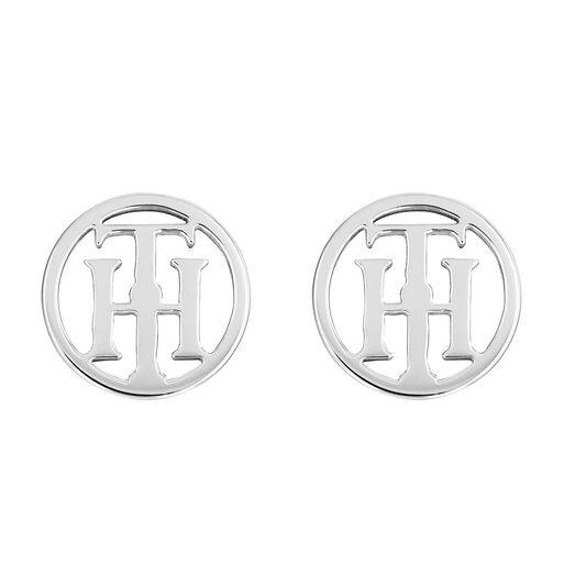 Tommy Hilfiger Ladies Logo Stud Earrings