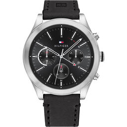 Tommy Hilfiger Men's Black Leather Watch