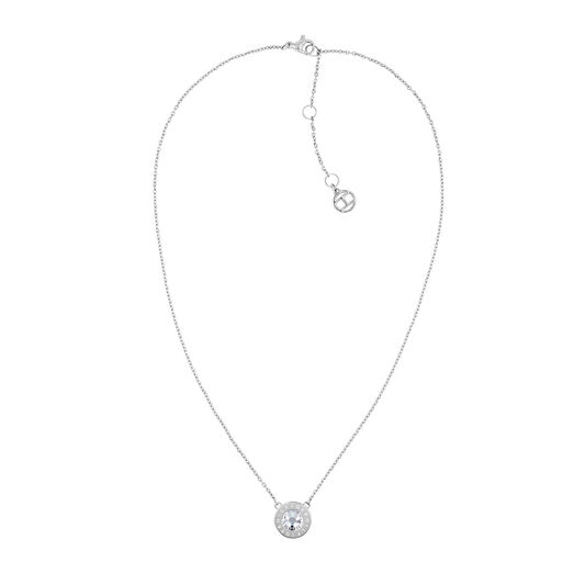 Tommy Hilfiger Ladies Stainless Steel Crystal Necklace