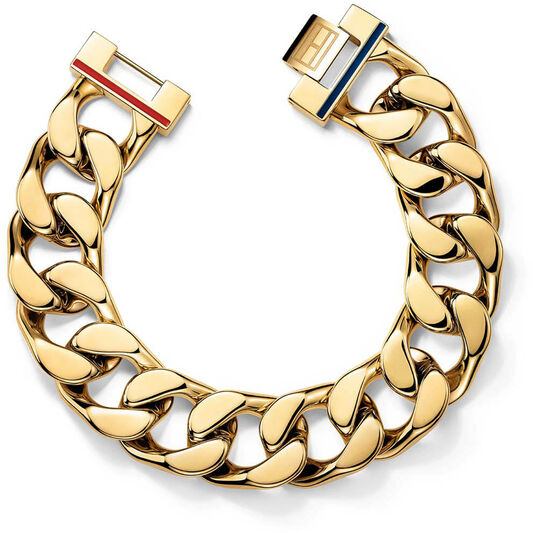 Tommy Hilfiger Ladies Gold Plated Chain Bracelet