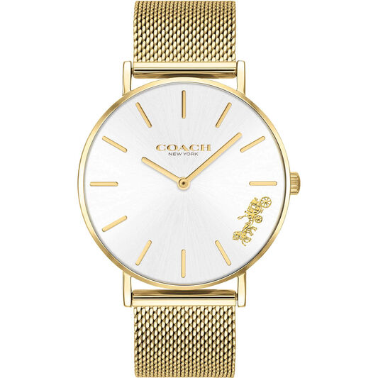 Coach Ladies Perry Gold Plated Watch
