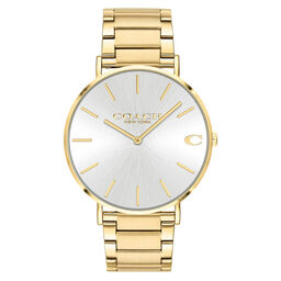 Coach Men's Charles Gold Plated Watch