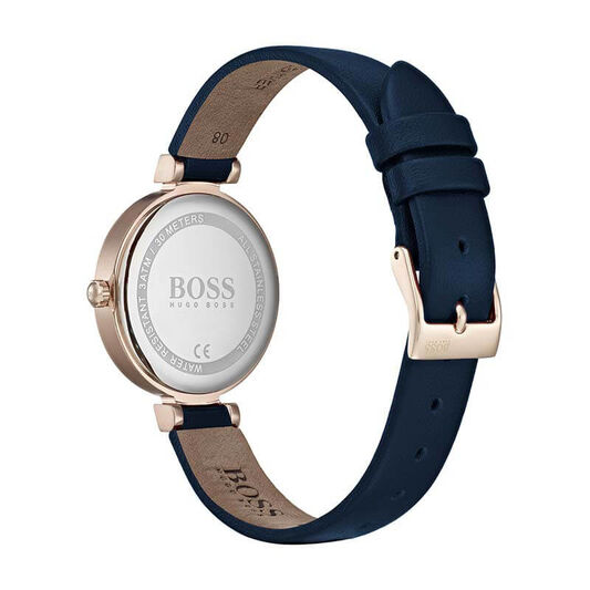 BOSS Ladies Celebration Blue Leather Watch