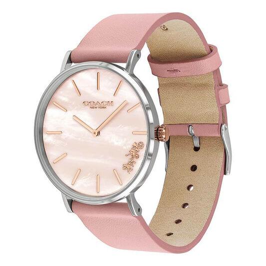 Coach Ladies Perry Pink Calfskin Watch