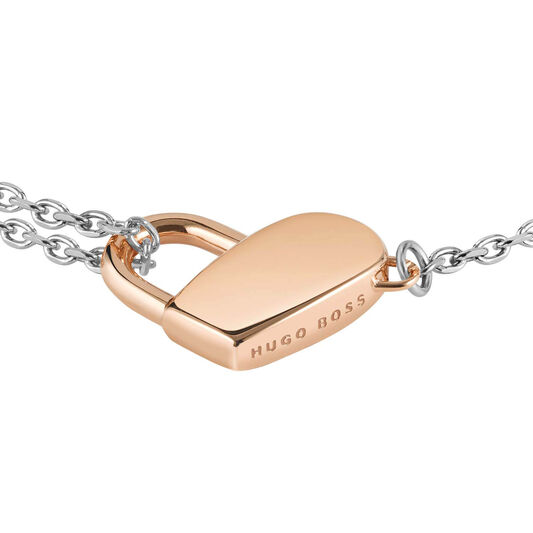 BOSS Ladies Soulmate Heart Chain Bracelet