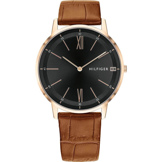 Tommy Hilfiger Men's Brown Leather Watch