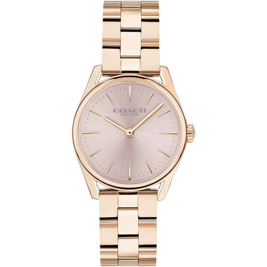 Coach Ladies Modern Luxury Carnation Gold Plated Watch