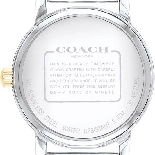 Coach Ladies Grand Two Tone Stainless Steel Watch