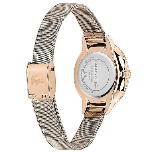 Lacoste Ladies Cannes Carnation Gold Plated Watch