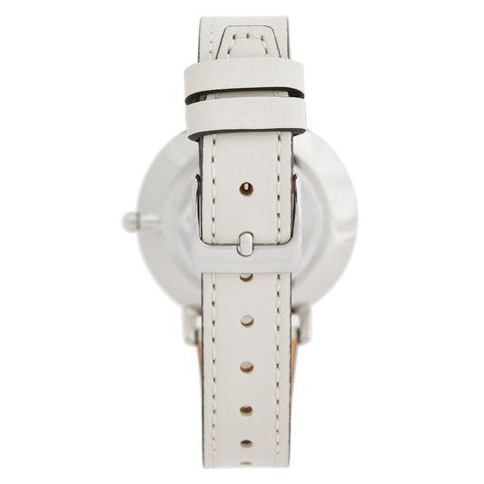 Rebecca Minkoff Ladies Major White Leather Watch
