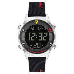 Scuderia Ferrari Men's Digitrack Black Silicone Watch