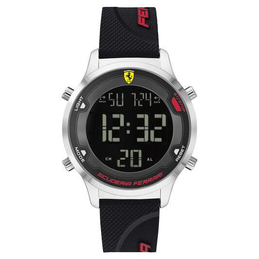 Scuderia Ferrari Men's Digitrack Black Silicone Watch