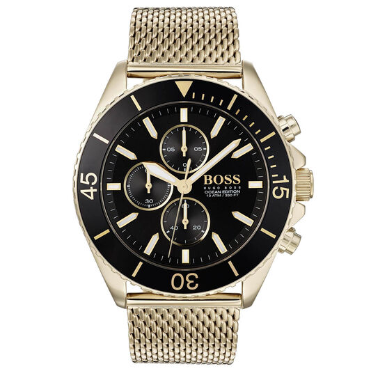 BOSS Men's Ocean Edition Gold Plated Watch