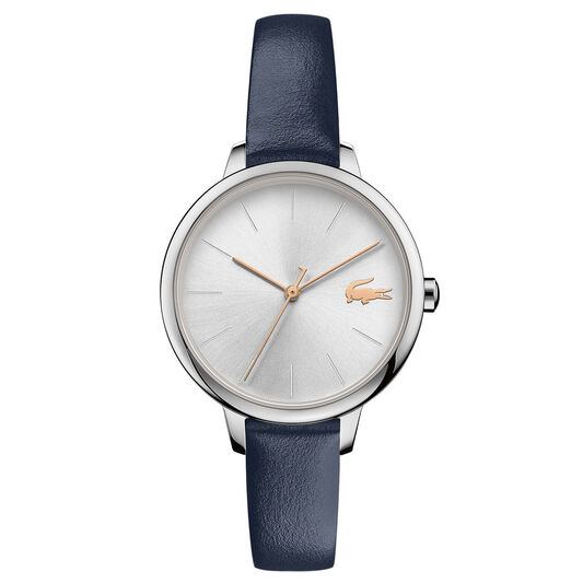 Lacoste Ladies Cannes Blue Leather Watch