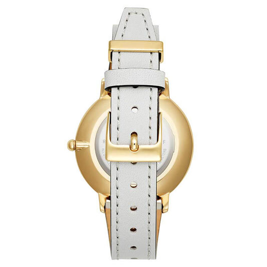 Rebecca Minkoff Ladies Major Ice Grey Leather Watch