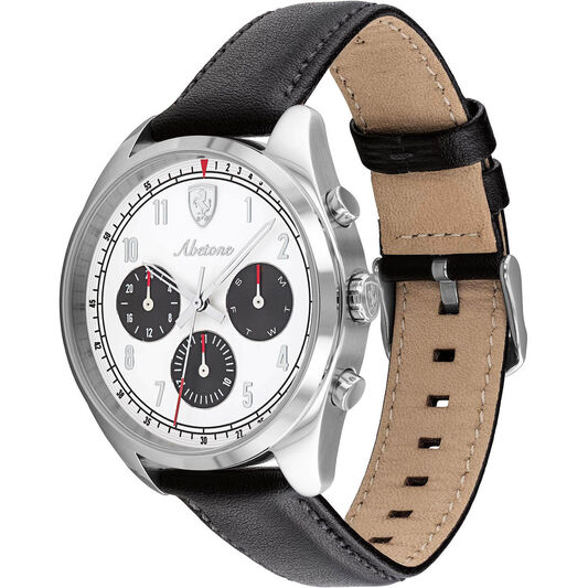 Scuderia Ferrari Men's Abetone Black Leather Watch