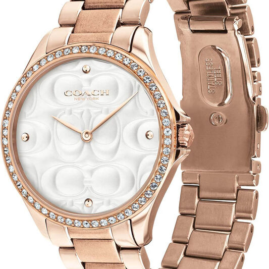 Coach Ladies Modern Sport Rose Gold Plated Watch