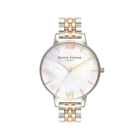 Mother of Pearl Silver & Rose Gold Watch