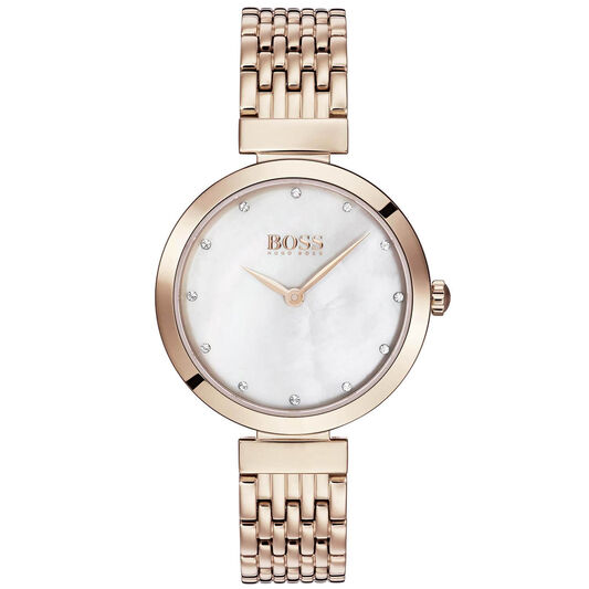 BOSS Ladies Celebration Carnation Gold Plated Watch