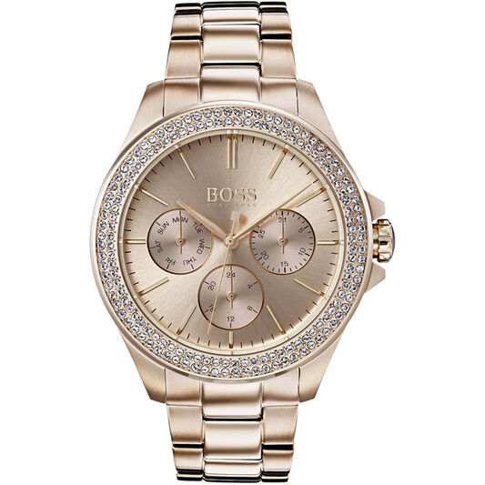 BOSS Ladies Premiere Carnation Gold Steel Watch