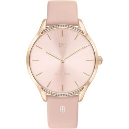 Tommy Hilfiger Ladies Pink Leather Watch