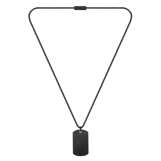 BOSS Men's ID Black Plated Necklace