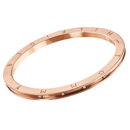 Tommy Hilfiger Ladies Rose Gold Crystal Bangle