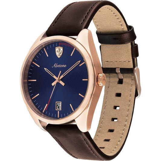 Scuderia Ferrari Men's Abetone Brown Leather Watch