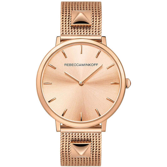 Rebecca Minkoff Ladies Major Rose Gold Plated Watch