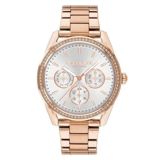 Coach Ladies Preston Rose Gold Plated Watch