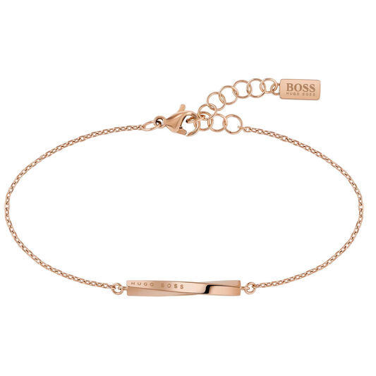BOSS Ladies Signature Carnation Gold Bracelet