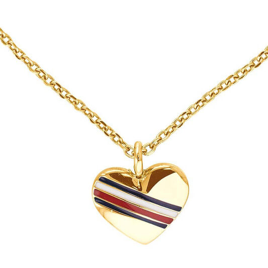 Tommy Hilfiger Ladies Gold Heart Charm Necklace
