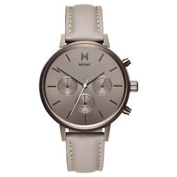 MVMT Ladies Nova Taupe Leather Watch