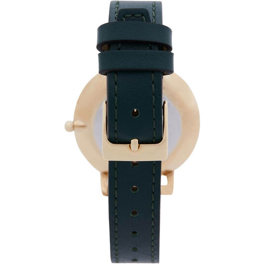 Rebecca Minkoff Ladies Major Malachite Leather Watch