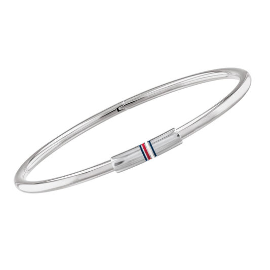 Tommy Hilfiger Ladies Flag Stainless Steel Bangle