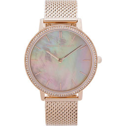 Rebecca Minkoff Ladies Major Carnation Gold Plated Watch
