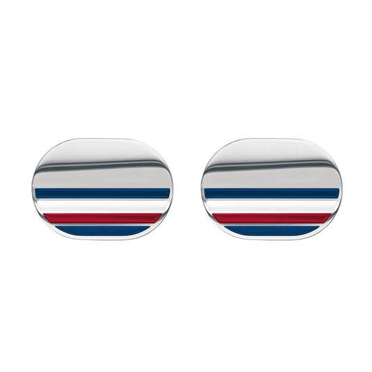 Tommy Hilfiger Men's Striped Cufflinks