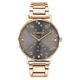 Coach Ladies Perry Carnation Gold Plated Watch