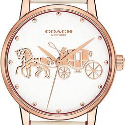 Coach Ladies Grand Chalk Calfskin Watch