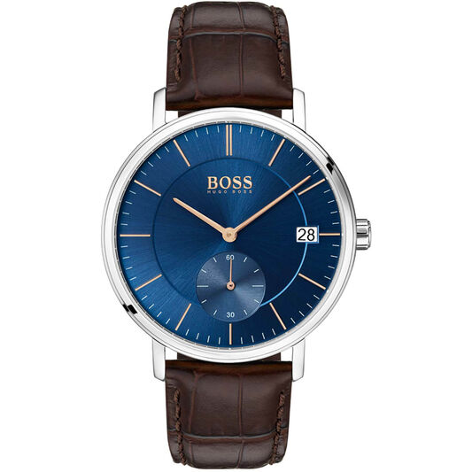 BOSS Men's Corporal Brown Leather Watch