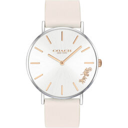 Coach Ladies Perry Chalk Calfskin Watch