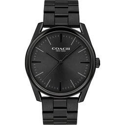Coach Men's Modern Luxury Black Plated Watch